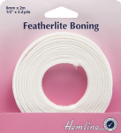 H696.8.W Featherlite Boning: White - 2m x 8mm